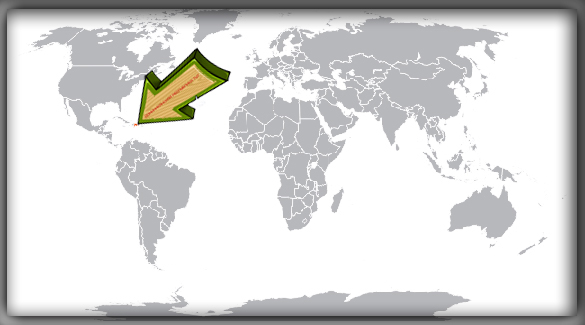 Доминиканская Республика на карте мира