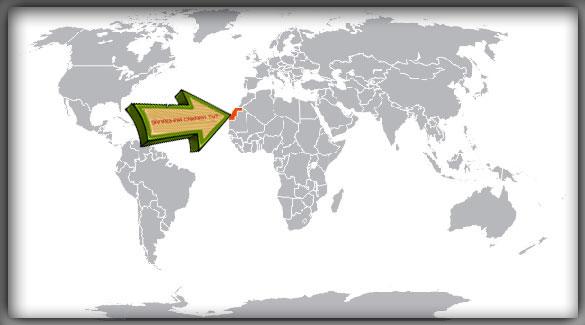 Западная Сахара на карте мира