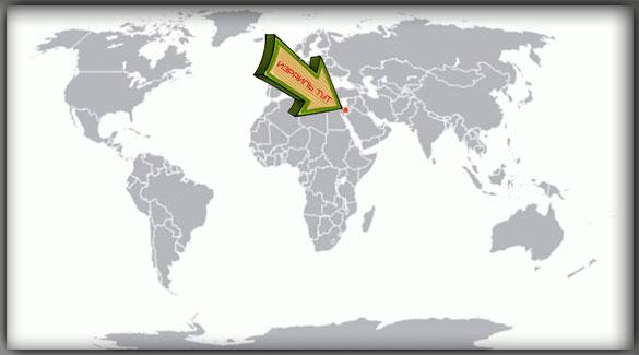 Израиль на карте