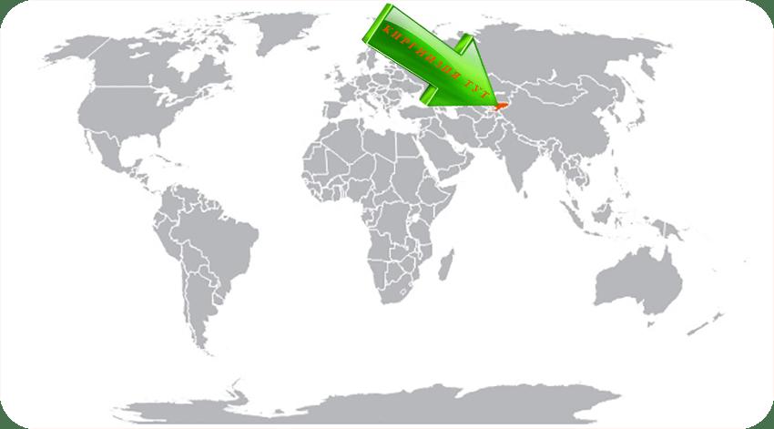 Киргизия на карте мира