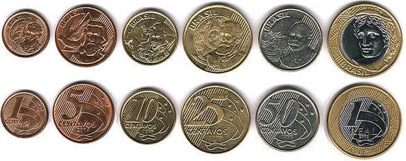 Монеты Бразилии (сентаво)