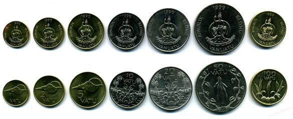 Монеты Вануату. Валюта Вануату.