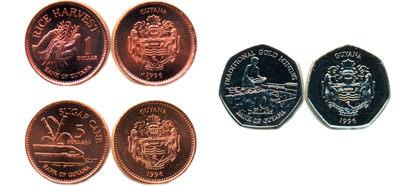 Валюта Гайаны. Монеты