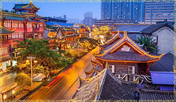 город Чэнду (Chengdu)
