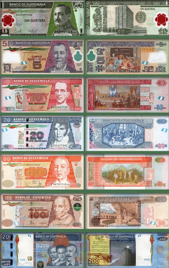 валюта Гватемалы - банкноты