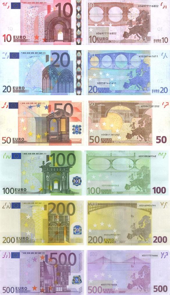 валюта Греции - банкноты