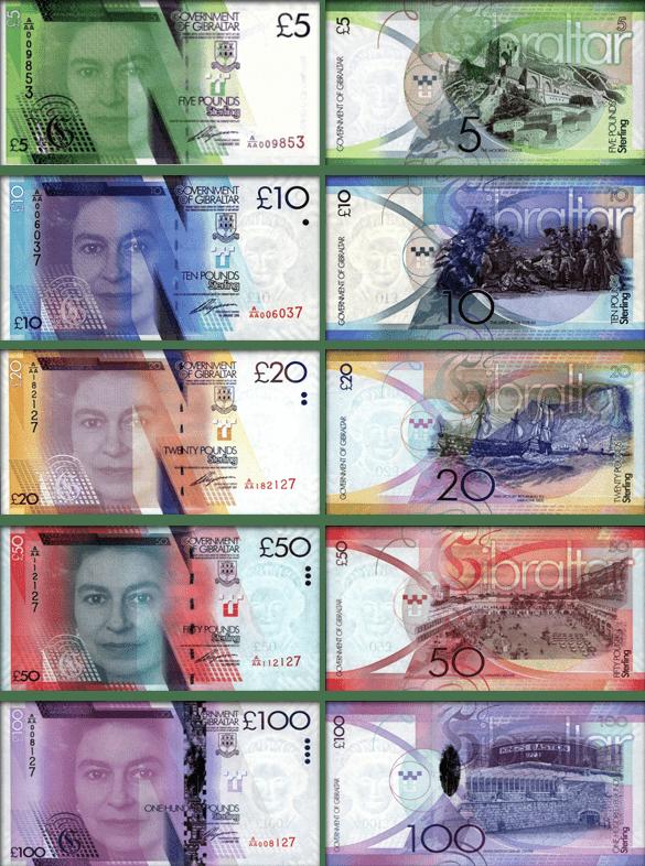 Валюта Гибралтара - банкноты