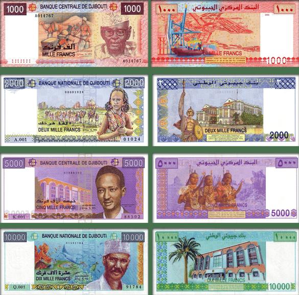 валюта Джибути - банкноты