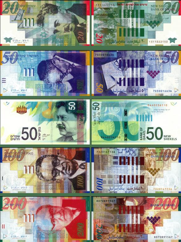 валюта Израиля - банкноты