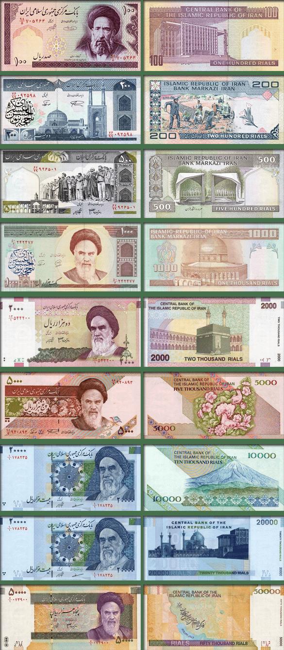 валюта Ирана - банкноты