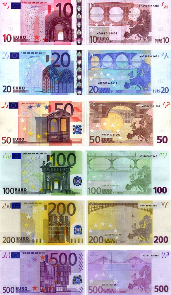 валюта Испании - банкноты