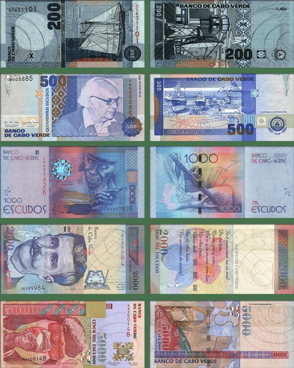 валюта Кабо-Верде - банкноты
