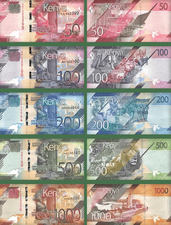 валюта Кении - Банкноты Кении