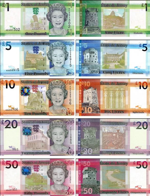 валюта Джерси. Банкноты