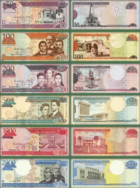валюта Доминиканской Республики - банкноты