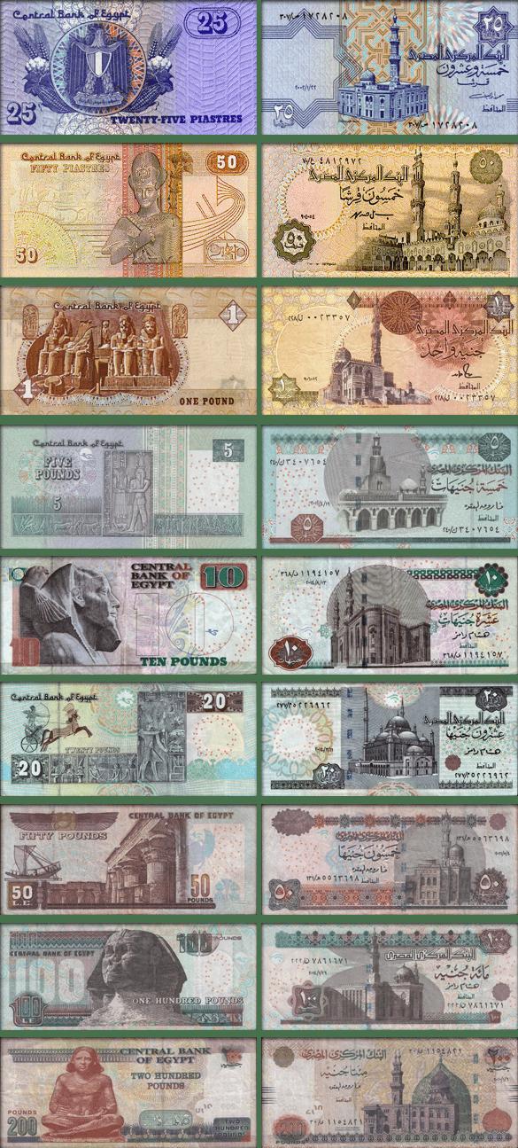 валюта Египта - банкноты (купюры)