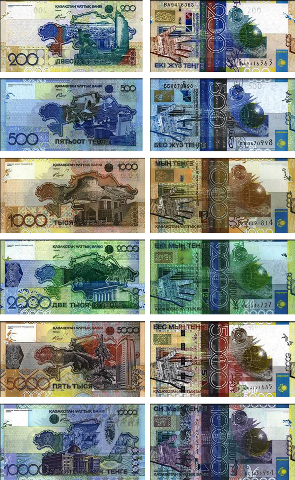 валюта Казахстана - банкноты