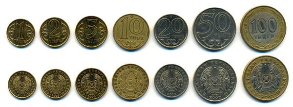 валюта Казахстана - монеты