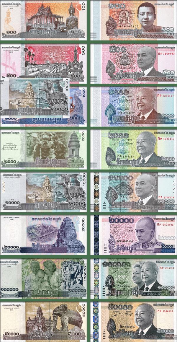 валюта Камбоджи - банкноты