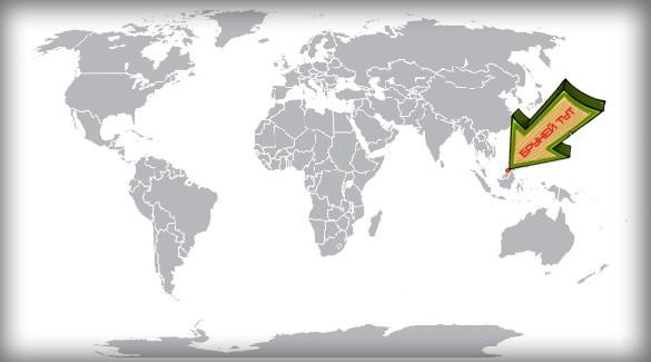 Бруней на карте мира