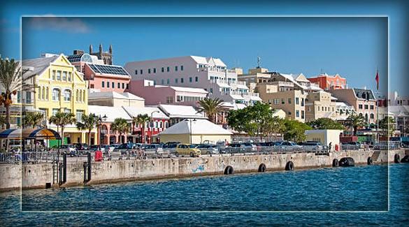 город Гамильтон - столица Бермудских островов
