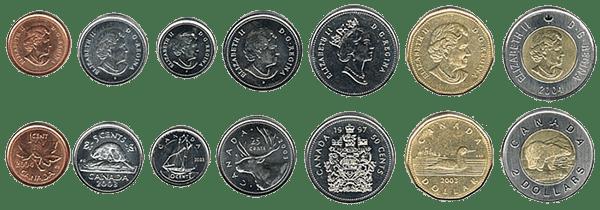 валюта Канады - монеты
