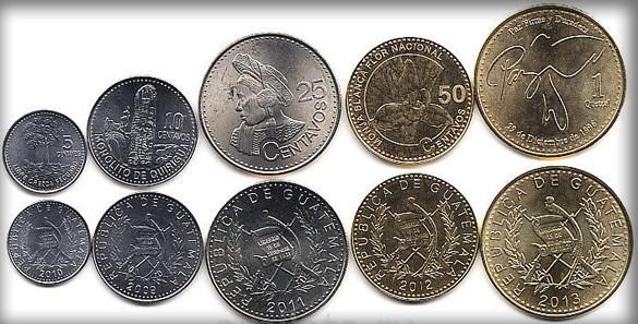 валюта Гватемалы - монеты