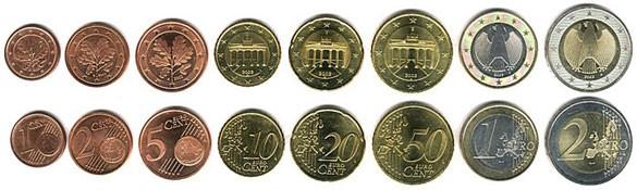 валюта Германии - монеты