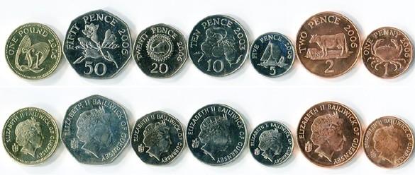 Валюта Гернси. Монеты