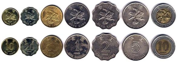 валюта Гонконга - монеты
