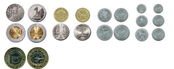 валюта Грузии - монеты