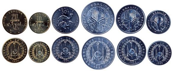 валюта Джибути - монеты