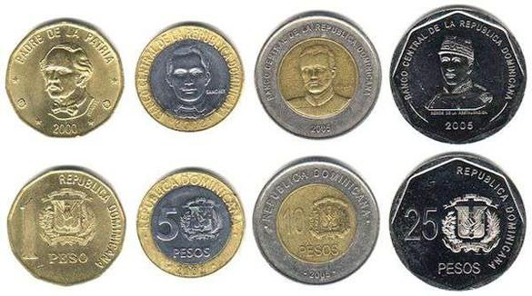 валюта Доминиканской Республики - монеты