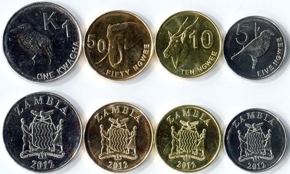 валюта Замбии - монеты