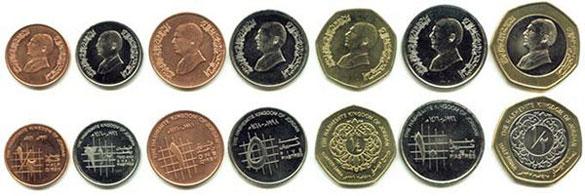 Валюта Иордании - монеты