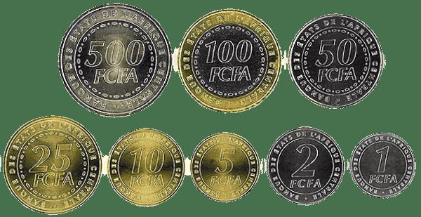 валюта Камеруна - монеты Камеруна