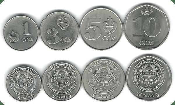 изображение монет Киргизии