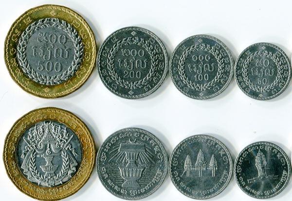валюта Камбоджи - монеты