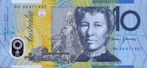 10 австралийских долларов. Реверс.