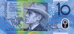 10 австралийских долларов. Аверс.