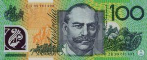 100 австралийских долларов. Реверс.