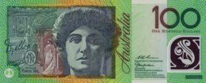 100 австралийских долларов. Аверс.