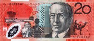 20 австралийских долларов. Реверс.