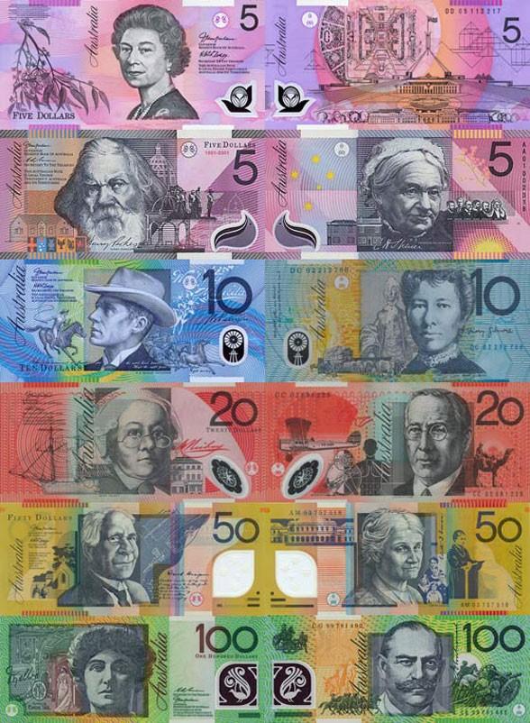 Валюта Австралии. Банкноты