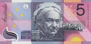 5 австралийских долларов. Реверс.