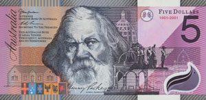 5 австралийских долларов. Аверс