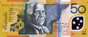 50 австралийских долларов. Аверс.